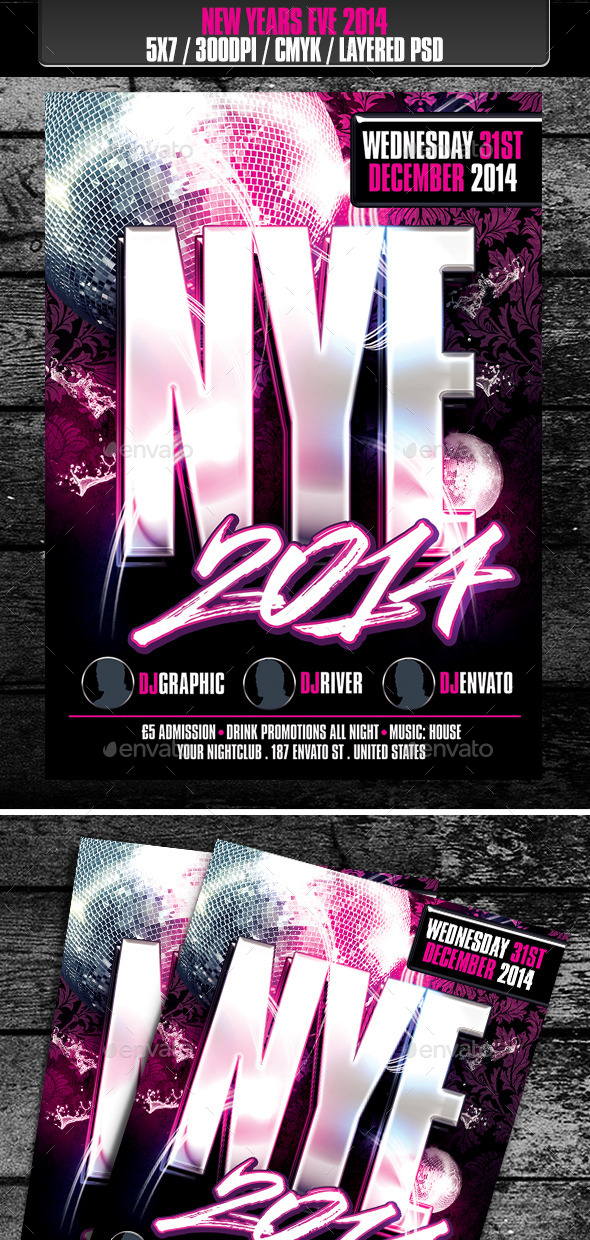 GraphicRiver New Years Eve 2014 Club Flyer 9795327