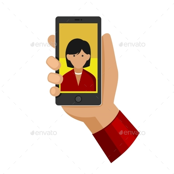 GraphicRiver Woman Making Selfie Photo on Phone 9795331