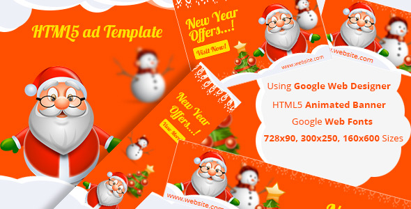 CodeCanyon NewYear HTML5 ad template 9795375
