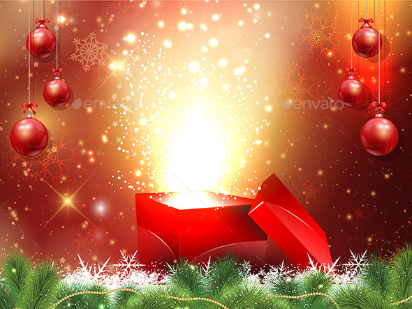 GraphicRiver Christmas Gift Background 9795564