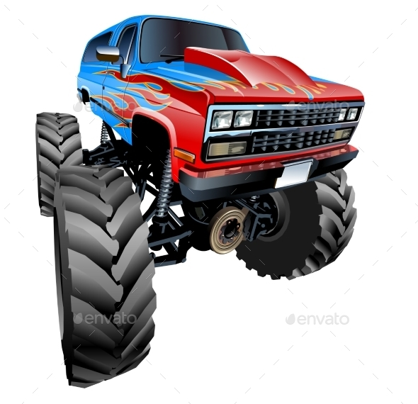 GraphicRiver Cartoon Monster Truck 9795582