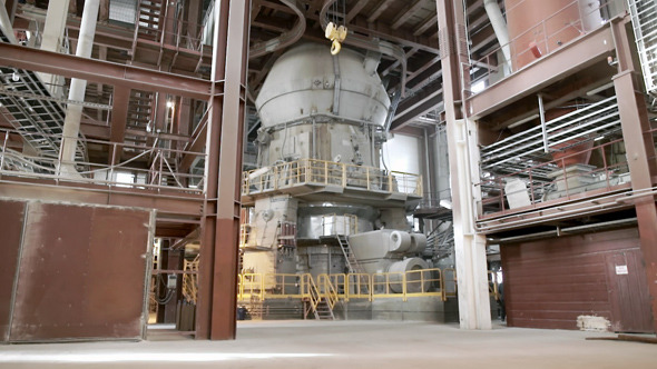 Inside of a Cement Plant