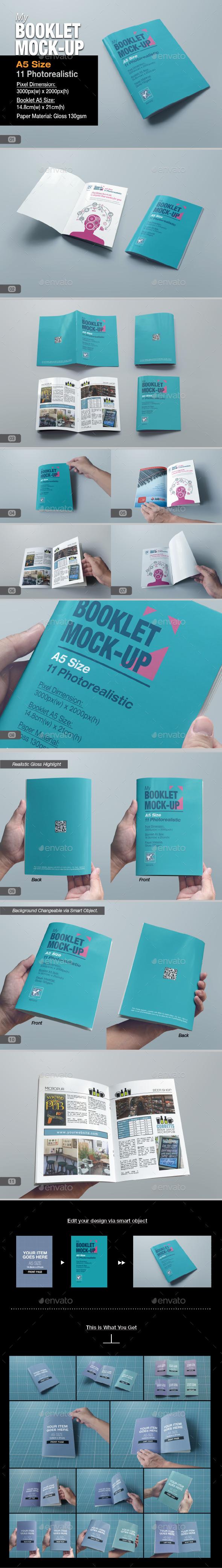 GraphicRiver myBooklet Mock-up 9795588