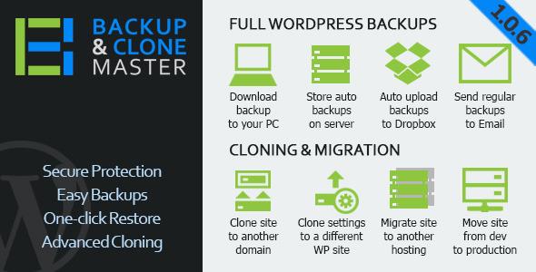 WordPress Backup & Clone Master - CodeCanyon Item for Sale