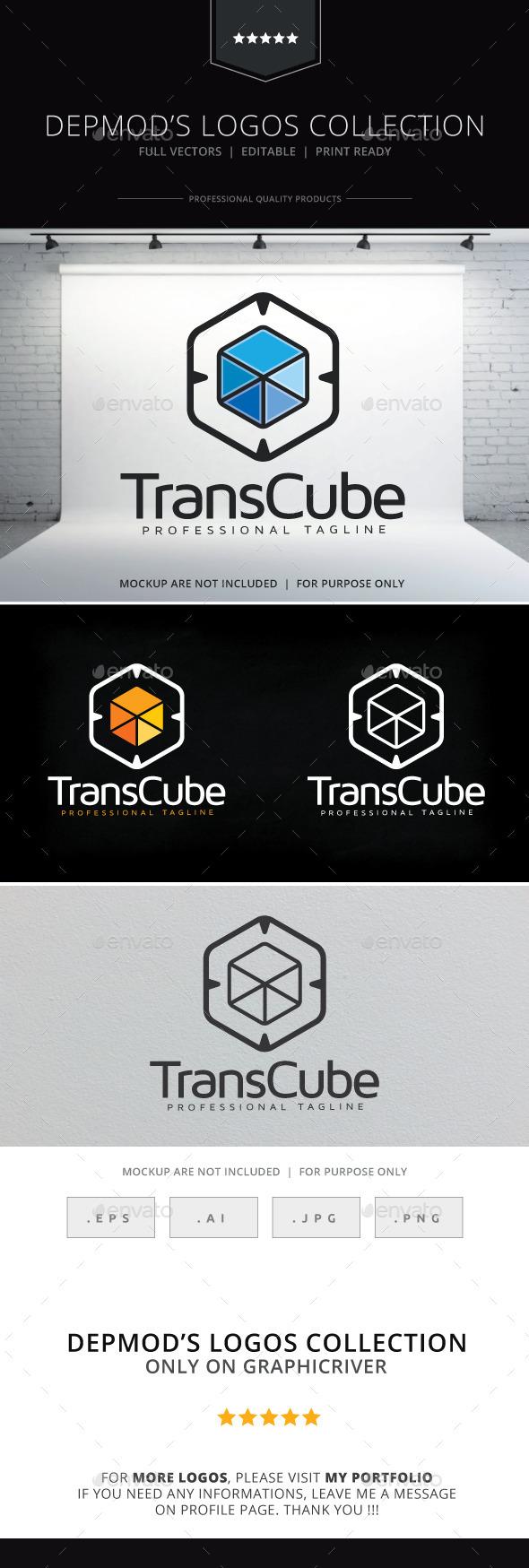 GraphicRiver Trans Cube Logo 9795633