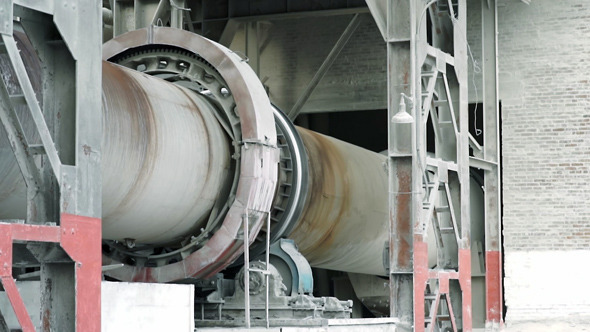 Rotary Kiln at a Cement Plant