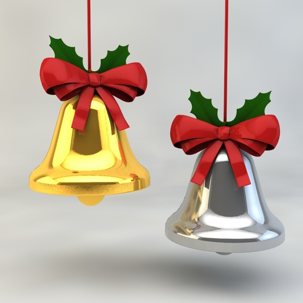 3DOcean Christmas Bell with Ribbon 9795807