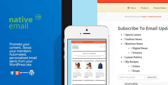 CodeCanyon Native Email- User-Defined Category Email Alerts 9686440