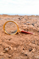 Magnify Glass Abandoned On The Desert - PhotoDune Item for Sale