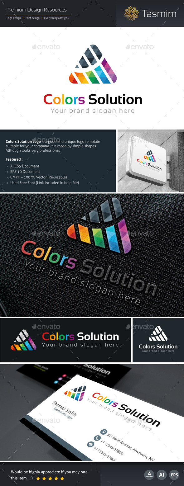 GraphicRiver Colors Solution Logo Template 9796420