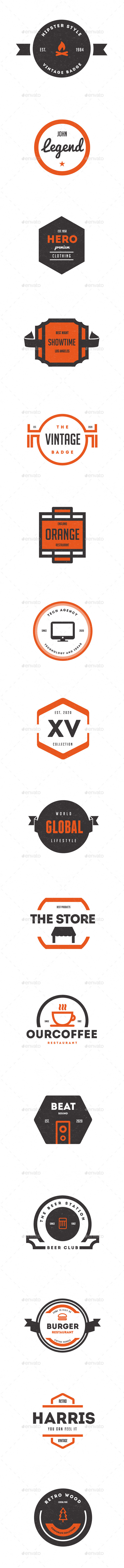 GraphicRiver Trendy Vintage Logos Labels & Badges 9796426