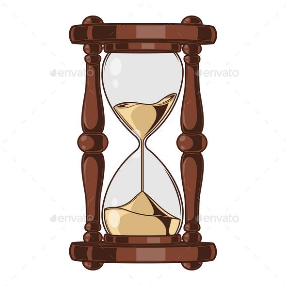 GraphicRiver Antique Sand Hourglass 9796429