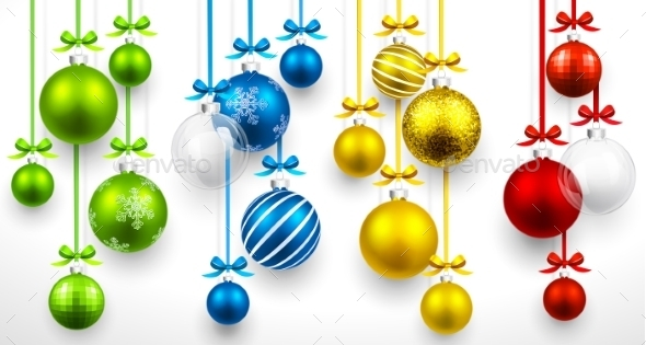 GraphicRiver Set of Christmas Balls 9796495