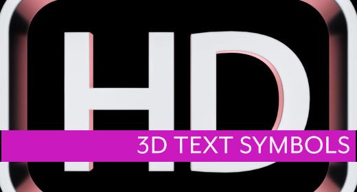 3D Text Symbols