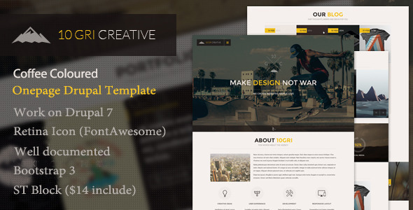 10GriCreative One Page Drupal Theme
