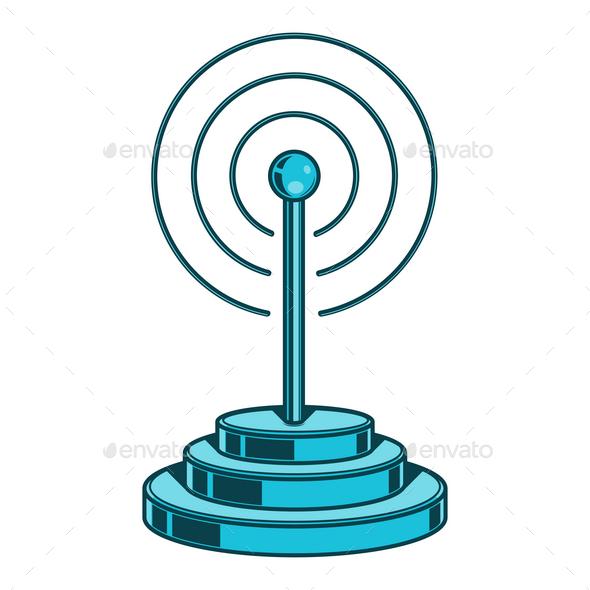 GraphicRiver Wireless Network Icon 9796496