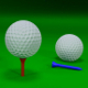 Golf Ball and Tee Set - 3D Models - 3DOcean Item for Sale