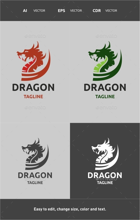 GraphicRiver Dragon Logo 9796526