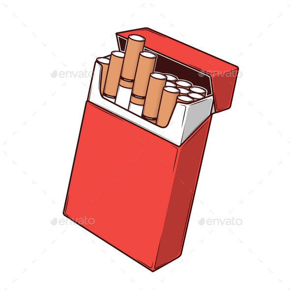GraphicRiver Cigarettes in a Red Packet 9796529