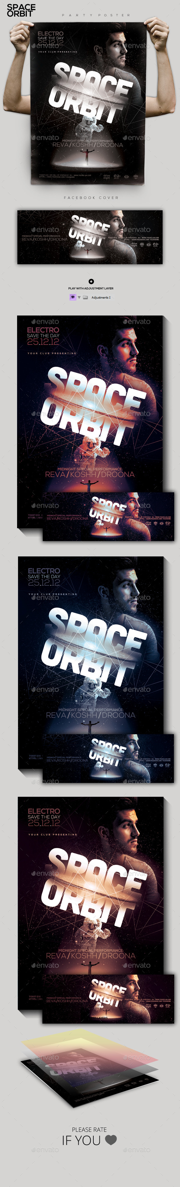 GraphicRiver Futuristic Electro Party Flyer Poster 9796562