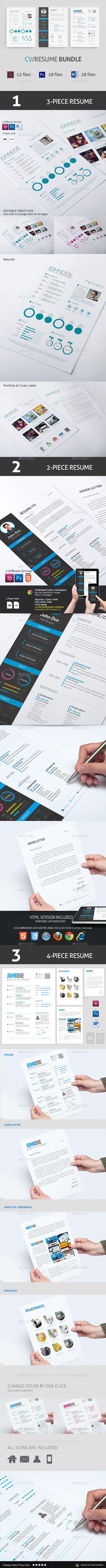 GraphicRiver CV Resume Bundle 9749516