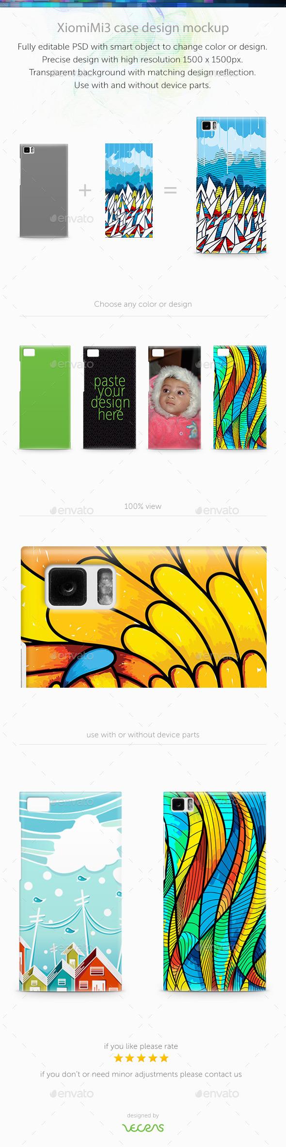 GraphicRiver XiomiMi3 Case Design Mockup 9743000