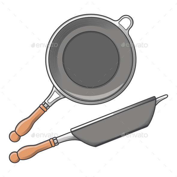 GraphicRiver Frying Pans 9796610