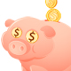 Feeding the Piggy Bank - GraphicRiver Item for Sale