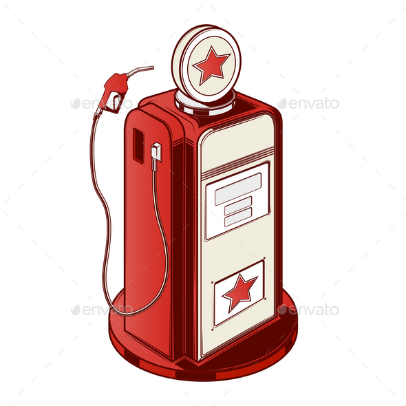 GraphicRiver Gasoline Station Pump 9796614