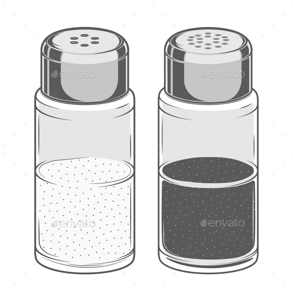 GraphicRiver Salt and Pepper Shakers 9796618