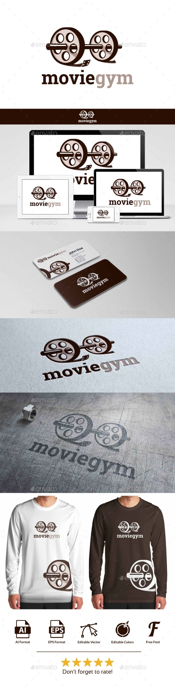 GraphicRiver Movie Gym Logo 9796622