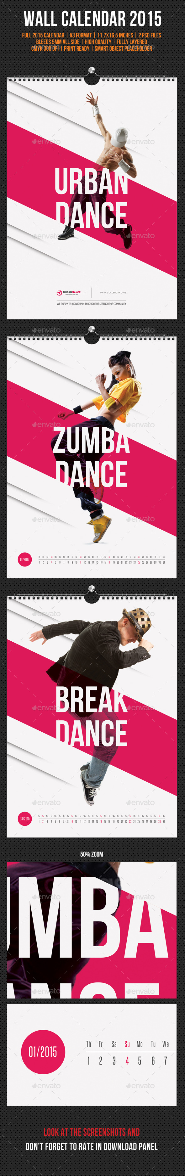 GraphicRiver Wall Calendar A3 2015 V08 9796626
