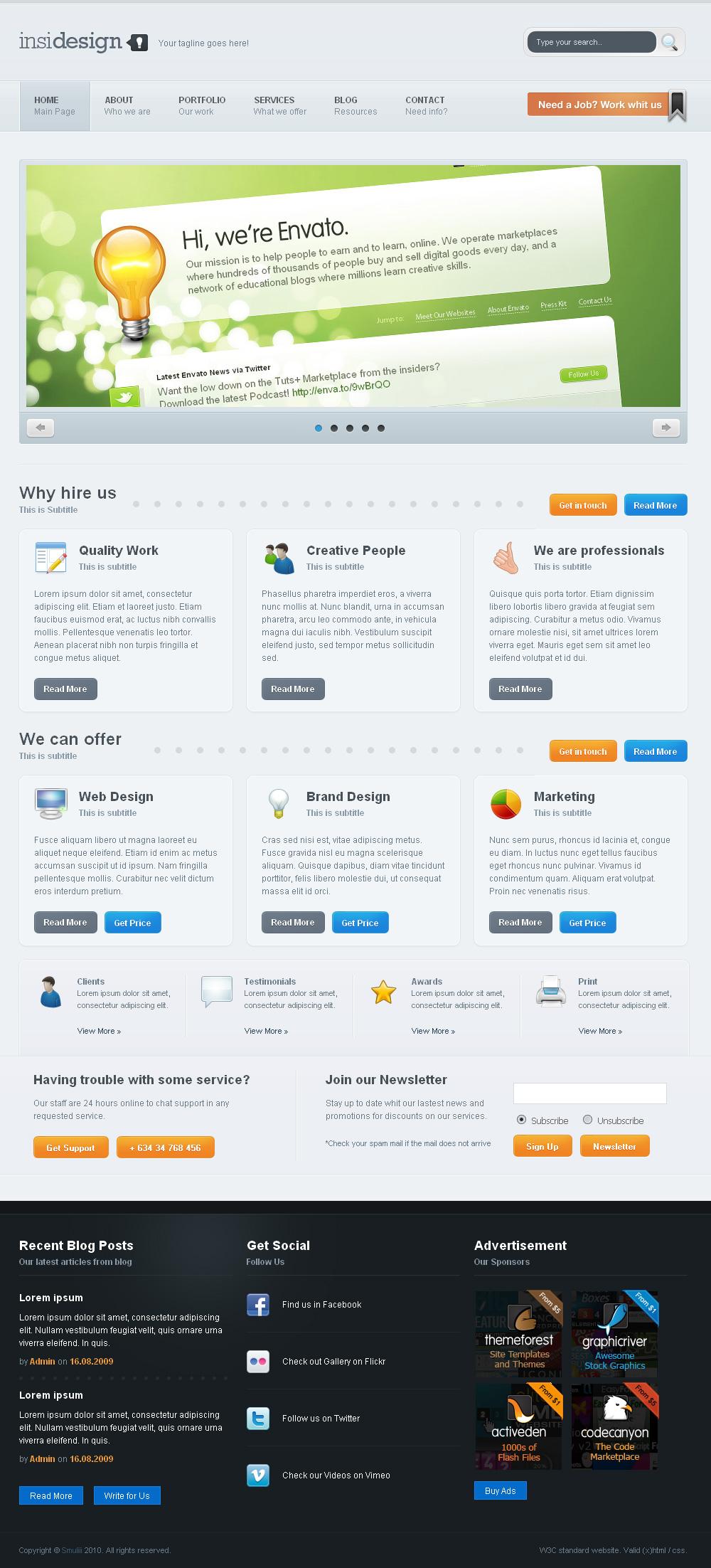 Insidesign HTML Template