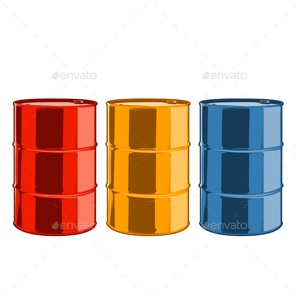 GraphicRiver Steel Oil Barrels 9796654