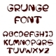 English Alphabet in Grunge Style - GraphicRiver Item for Sale