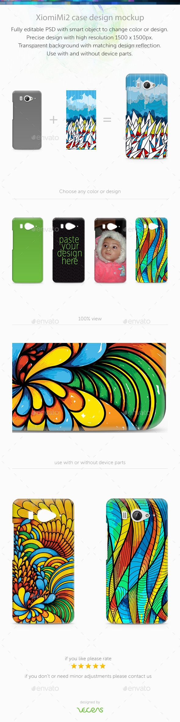 GraphicRiver XiomiMi2 Case Design Mockup 9743180
