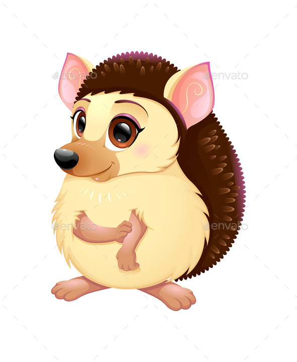 GraphicRiver Cute Porcupine 9796697