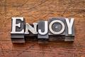 enjoy word in metal type - PhotoDune Item for Sale
