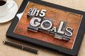 2015 goals on digital tablet - PhotoDune Item for Sale