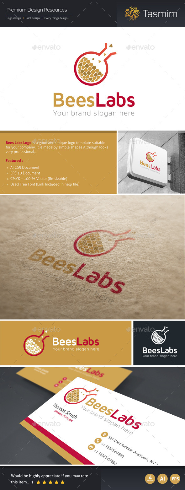 GraphicRiver BeesLabs Logo Template 9796714