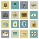 Cyber Defense Flat Icons Set with Shadows - GraphicRiver Item for Sale