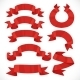 Set of Vector Festive Red Ribbons Various Forms - GraphicRiver Item for Sale