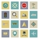 GPS and Navigation Flat Icons Set - GraphicRiver Item for Sale