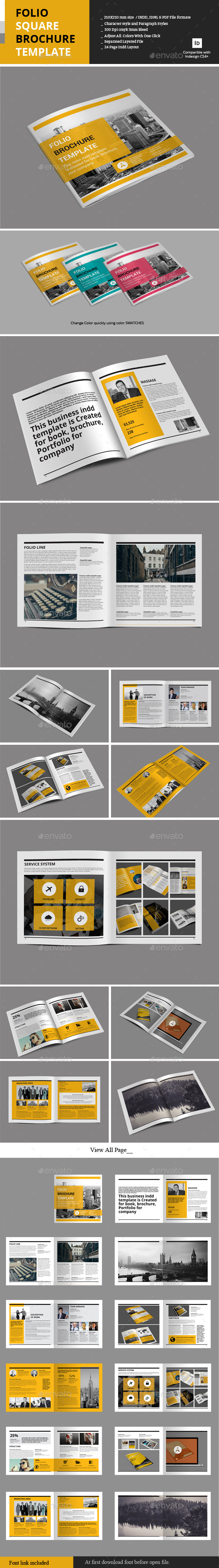GraphicRiver Folio Square Brochure Template 9796881