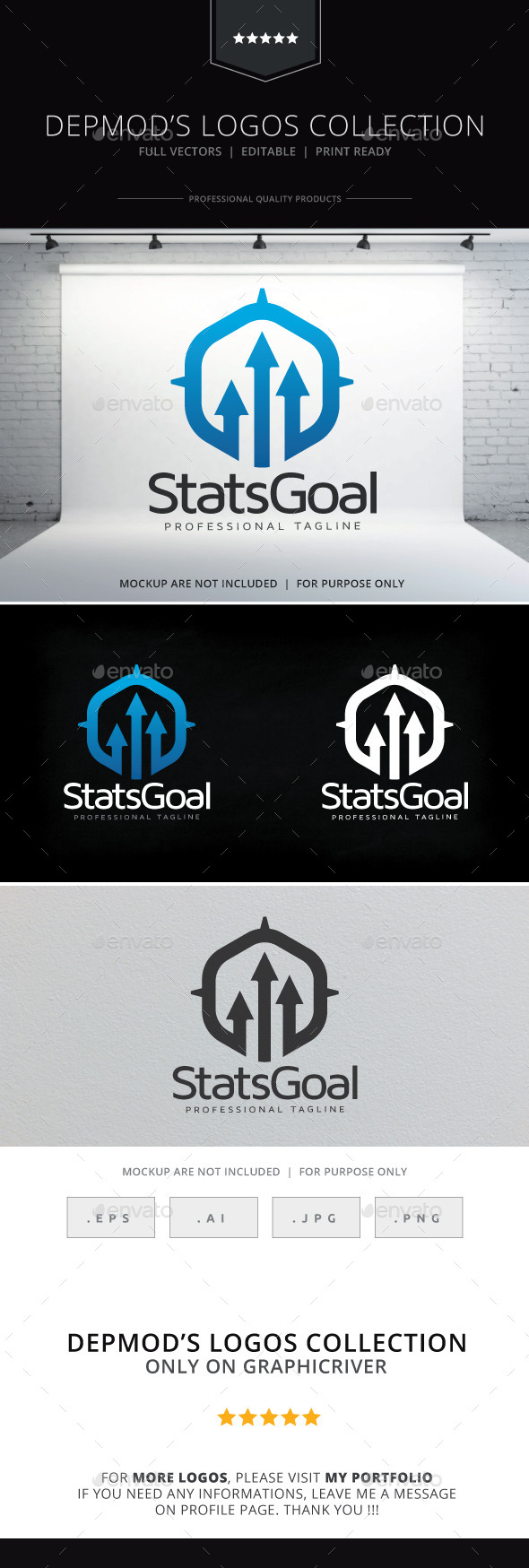 GraphicRiver Stats Goal Logo 9796894