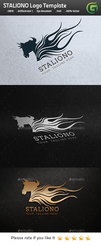GraphicRiver Staliono Horse Logo 9797032