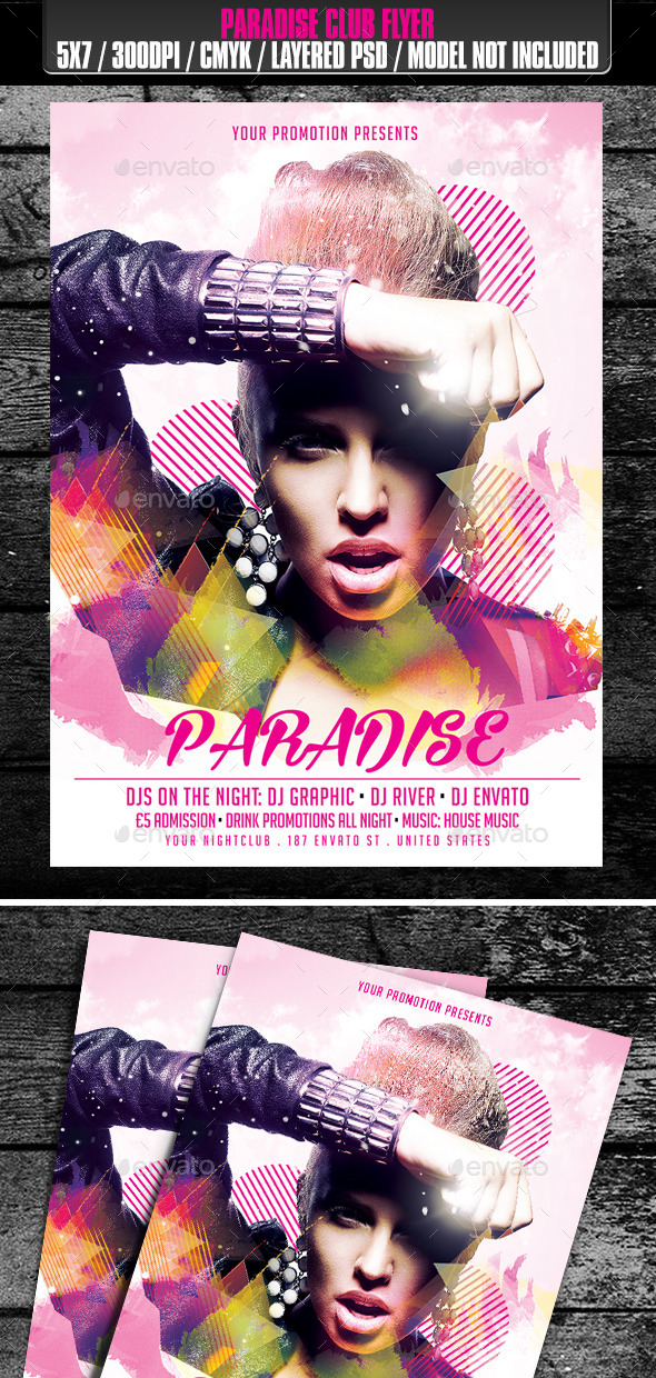 GraphicRiver Paradise Club Flyer 9797263