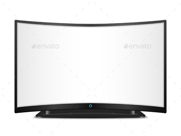 GraphicRiver TV with Curved Screen 9797633