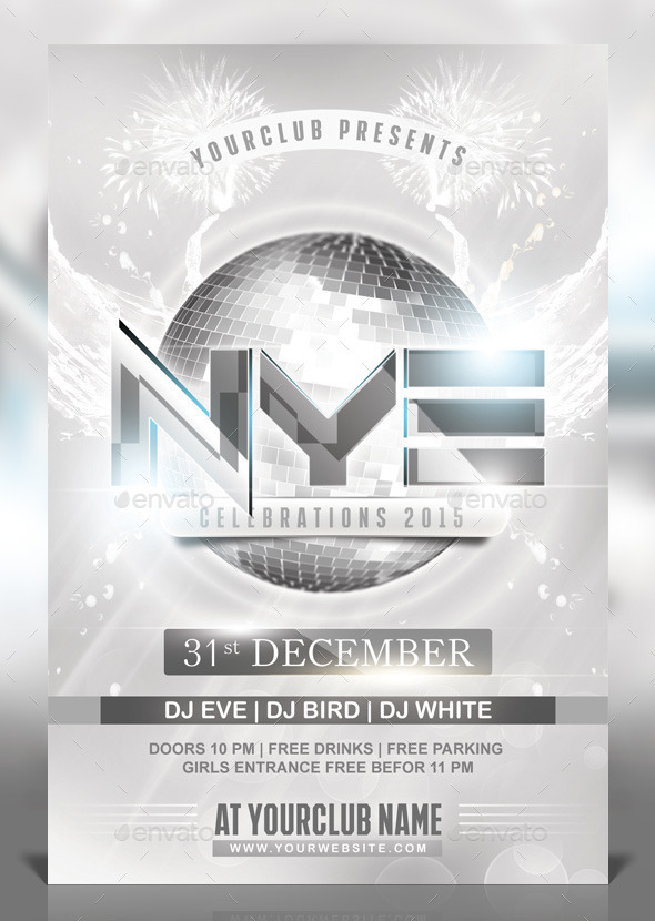 GraphicRiver NYE White Party Flyer 9797696