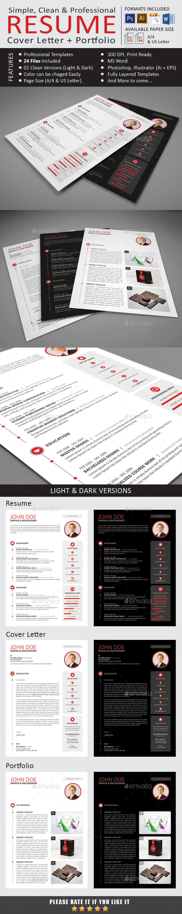 GraphicRiver The Resume 9797700